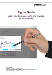 Signer Guide, design, send and manage your documents, Namirial