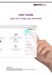 User Guide for signing document